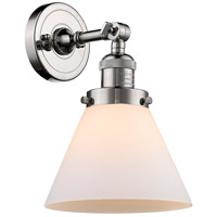 Innovations Lighting 203-PN-G41 Large Cone 1 Light 8 inch Polished Nickel Sconce Wall Light Franklin Restoration