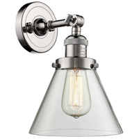 Innovations Lighting 203-PN-G42-LED Large Cone LED 8 inch Polished Nickel Sconce Wall Light Franklin Restoration