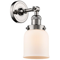 Innovations Lighting 203-PN-G51-LED Small Bell LED 5 inch Polished Nickel Sconce Wall Light