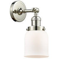Innovations Lighting 203-PN-G51 Small Bell 1 Light 5 inch Polished Nickel Wall Sconce Wall Light Small Bell