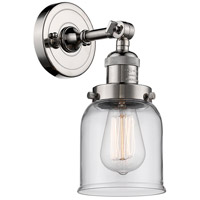Innovations Lighting 203-PN-G52-LED Small Bell LED 5 inch Polished Nickel Sconce Wall Light