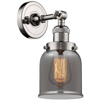 Innovations Lighting 203-PN-G53 Small Bell 1 Light 5 inch Polished Nickel Sconce Wall Light Franklin Restoration