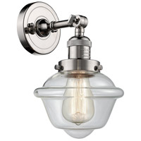 Innovations Lighting 203-PN-G532-LED Small Oxford LED 8 inch Polished Nickel Sconce Wall Light