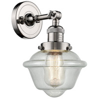 Innovations Lighting 203-PN-G534-LED Small Oxford LED 8 inch Polished Nickel Sconce Wall Light