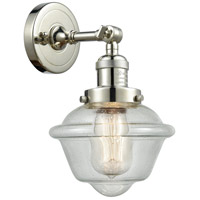 Innovations Lighting 203-PN-G534 Small Oxford 1 Light 8 inch Polished Nickel Sconce Wall Light