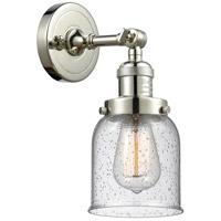 Innovations Lighting 203-PN-G54-LED Small Bell LED 5 inch Polished Nickel Sconce Wall Light, Franklin Restoration