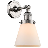 Innovations Lighting 203-PN-G61 Small Cone 1 Light 6 inch Polished Nickel Sconce Wall Light Franklin Restoration
