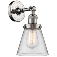 Innovations Lighting 203-PN-G62-LED Small Cone LED 6 inch Polished Nickel Sconce Wall Light Franklin Restoration
