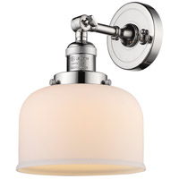 Innovations Lighting 203-PN-G71-LED Large Bell LED 8 inch Polished Nickel Sconce Wall Light Franklin Restoration