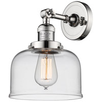 Innovations Lighting 203-PN-G72-LED Large Bell LED 8 inch Polished Nickel Sconce Wall Light Franklin Restoration