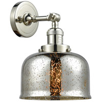 Innovations Lighting 203-PN-G78-LED Large Bell LED 8 inch Polished Nickel Sconce Wall Light