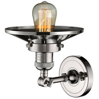 Innovations Lighting 203-PN-M1 Railroad 1 Light 8 inch Polished Nickel Sconce Wall Light, Franklin Restoration alternative photo thumbnail
