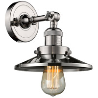 Innovations Lighting 203-PN-M1 Railroad 1 Light 8 inch Polished Nickel Wall Sconce Wall Light