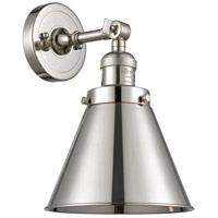 Innovations Lighting 203-PN-M13-PN Appalachian 1 Light 8 inch Polished Nickel Sconce Wall Light Franklin Restoration