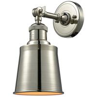 Innovations Lighting 203-PN-M9-LED Addison LED 5 inch Polished Nickel Sconce Wall Light, Franklin Restoration