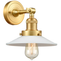Innovations Lighting 203-SG-G1 Halophane 1 Light 9 inch Satin Gold Sconce Wall Light