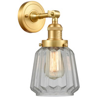 Satin Gold Glass Chatham Wall Sconces