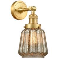 Innovations Lighting 203-SG-G146 Chatham 1 Light 6 inch Satin Gold Sconce Wall Light