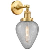 Innovations Lighting 203-SG-G165 Geneseo 1 Light 7 inch Satin Gold Sconce Wall Light