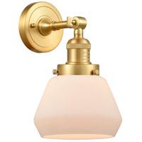 Innovations Lighting 203-SG-G171 Fulton 1 Light 7 inch Satin Gold Sconce Wall Light