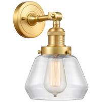 Innovations Lighting 203-SG-G172 Fulton 1 Light 7 inch Satin Gold Sconce Wall Light