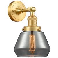 Innovations Lighting 203-SG-G173 Fulton 1 Light 7 inch Satin Gold Sconce Wall Light