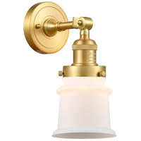 Innovations Lighting 203-SG-G181S-LED Small Canton LED 7 inch Satin Gold Sconce Wall Light Franklin Restoration