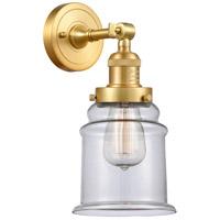 Innovations Lighting 203-SG-G182-LED Canton LED 7 inch Satin Gold Sconce Wall Light Franklin Restoration