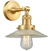 Innovations Lighting 203-SG-G2-LED Halophane LED 9 inch Satin Gold Sconce Wall Light Franklin Restoration