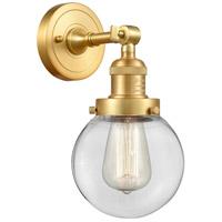 Innovations Lighting 203-SG-G202-6 Beacon 1 Light 6 inch Satin Gold Sconce Wall Light