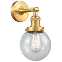 Innovations Lighting 203-SG-G204-6 Beacon 1 Light 6 inch Satin Gold Sconce Wall Light