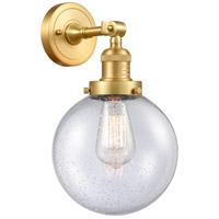 Innovations Lighting 203-SG-G204-8-LED Large Beacon LED 8 inch Satin Gold Sconce Wall Light