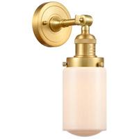 Innovations Lighting 203-SG-G311 Dover 1 Light 5 inch Satin Gold Sconce Wall Light Franklin Restoration