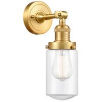 Innovations Lighting 203-SG-G312-LED Dover LED 5 inch Satin Gold Sconce Wall Light