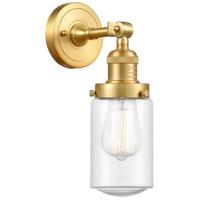Innovations Lighting 203-SG-G314 Dover 1 Light 5 inch Satin Gold Sconce Wall Light Franklin Restoration