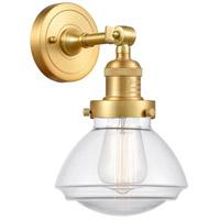 Innovations Lighting 203-SG-G322-LED Olean LED 7 inch Satin Gold Sconce Wall Light