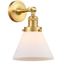 Satin Gold Large Cone Wall Sconces