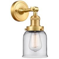 Innovations Lighting 203-SG-G52-LED Small Bell LED 5 inch Satin Gold Sconce Wall Light