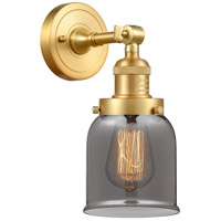 Innovations Lighting 203-SG-G53-LED Small Bell LED 5 inch Satin Gold Sconce Wall Light