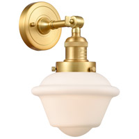 Innovations Lighting 203-SG-G531-LED Small Oxford LED 8 inch Satin Gold Sconce Wall Light