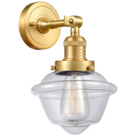 Innovations Lighting 203-SG-G532-LED Small Oxford LED 8 inch Satin Gold Sconce Wall Light