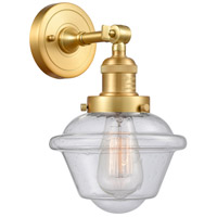 Innovations Lighting 203-SG-G534-LED Small Oxford LED 8 inch Satin Gold Sconce Wall Light