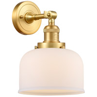Innovations Lighting 203-SG-G71-LED Large Bell LED 8 inch Satin Gold Sconce Wall Light