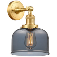 Innovations Lighting 203-SG-G73-LED Large Bell LED 8 inch Satin Gold Sconce Wall Light
