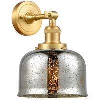 Innovations Lighting 203-SG-G78-LED Large Bell LED 8 inch Satin Gold Sconce Wall Light
