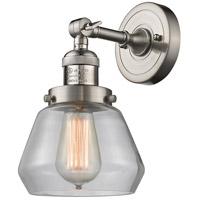 Innovations Lighting 203-SN-G172-LED Fulton LED 7 inch Brushed Satin Nickel Sconce Wall Light Franklin Restoration