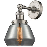 Innovations Lighting 203-SN-G173-LED Fulton LED 7 inch Brushed Satin Nickel Sconce Wall Light