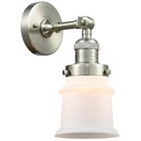 Innovations Lighting 203-SN-G181S Small Canton 1 Light 7 inch Brushed Satin Nickel Sconce Wall Light Franklin Restoration