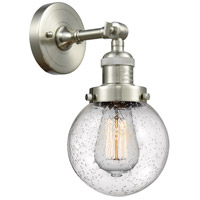 Innovations Lighting 203-SN-G204-6-LED Beacon LED 6 inch Brushed Satin Nickel Sconce Wall Light Franklin Restoration