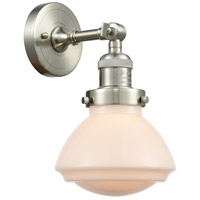 Satin Nickel Glass Olean Wall Sconces